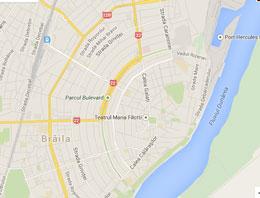 Harta rutieră a orașului Brăila
