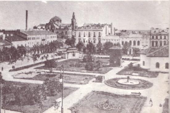 Piața Sf. Arhangheli , puțin înainte de 1900