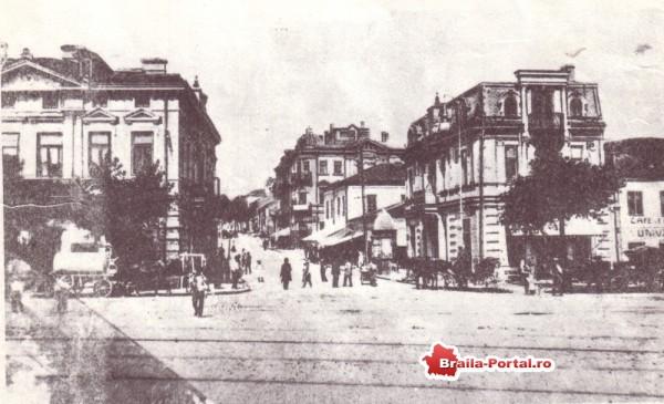 Strada Împăratul Traian dinspre Dunăre. Între anii 1878 - 1918 ea s-a numit Calea Dobrogei.