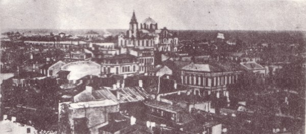 Vedere a Brăilei către biserica Buna Vestire (Greacă) dinspre Sf. Spiridon 1902