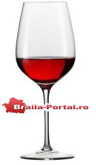 Pahar recomandat la servirea vinului