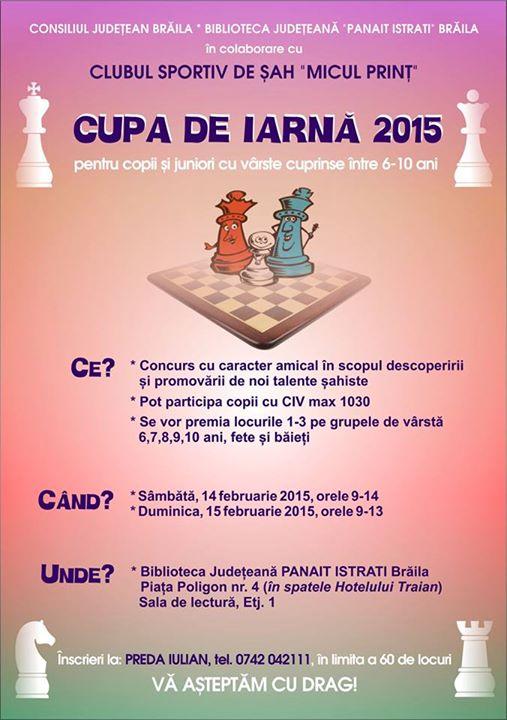 Cupa de iarnă 2015 pentru copii şi juniori