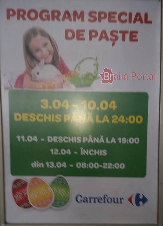Program Brăila Mall de Paşte