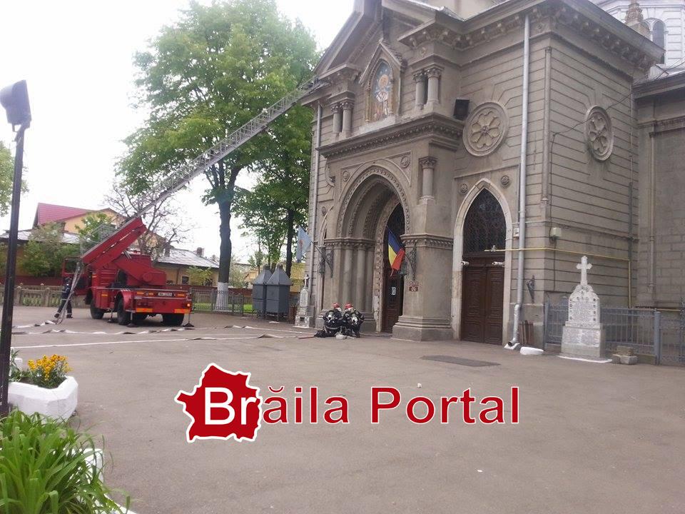 Simulare în caz de incendiu la Biserica Sf. Nicolae Brăila