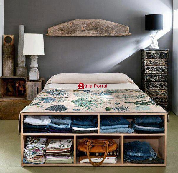 44 de idei pentru economisirea spatiului in dormitor