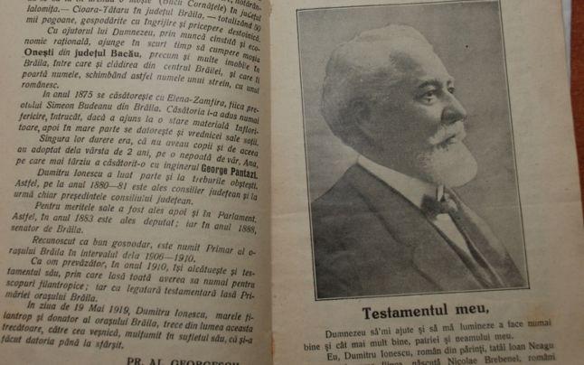Photo of Istoricul Brăilei – Episodul XXI – Dumitru Ionescu – filantropul orașului