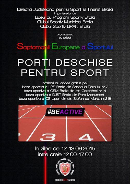Săptămâna europeană a sportului - Porţi deschise