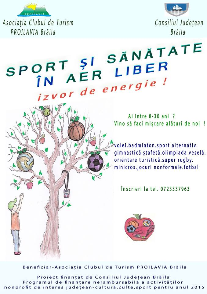 Sport si sanatate in aer liber ! Izvor de energie !