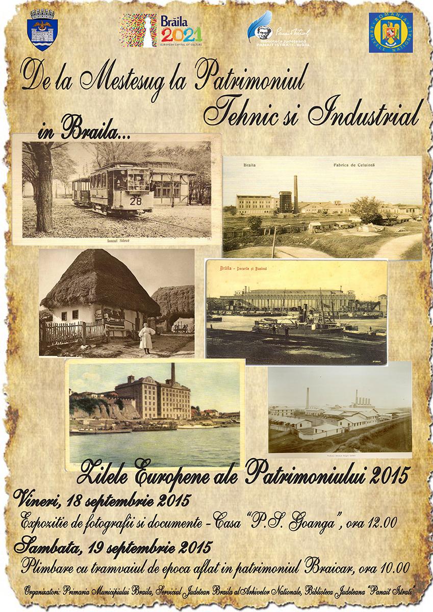 """Photo of Zilele Europene ale Patrimoniului (ZEP) în anul 2015 se  desfăşoara sub genericul """"Patrimoniu industrial şi tehnic"""""""