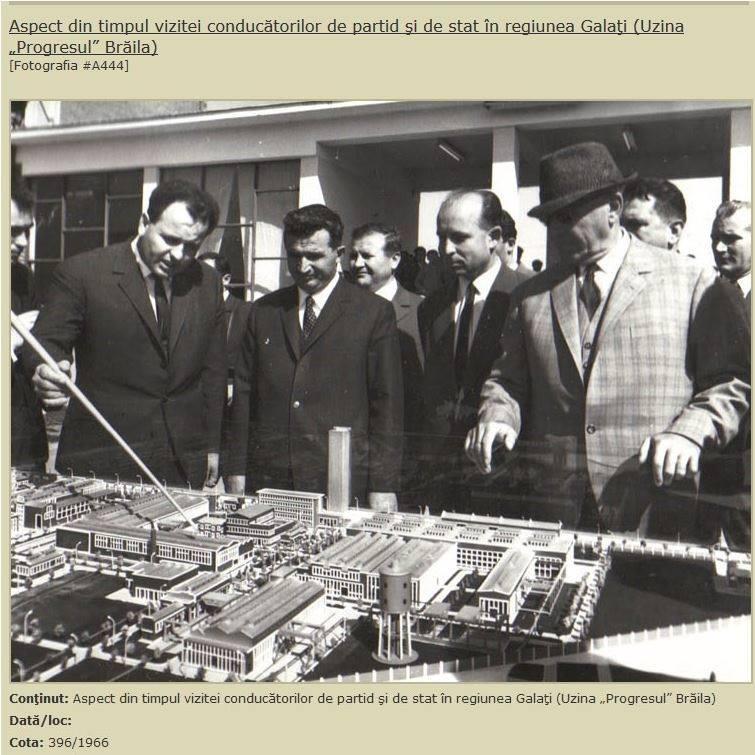 Photo of Ceauşescu la Brăila