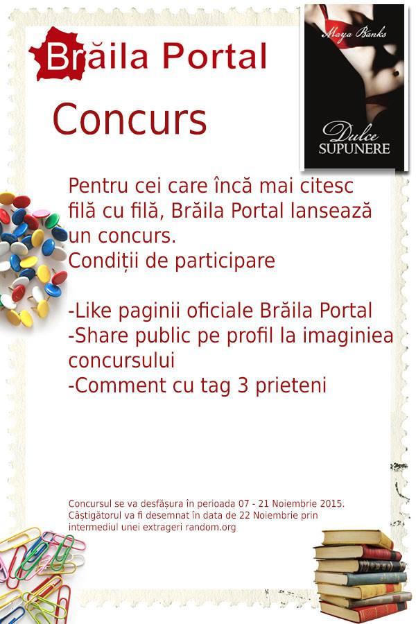 Concurs Brăila Portal luna noiembrie