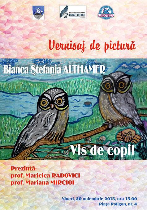 """Photo of Vernisajul expoziției de desen """"Vis de copil"""" al Biancăi Ștefania Althamer"""