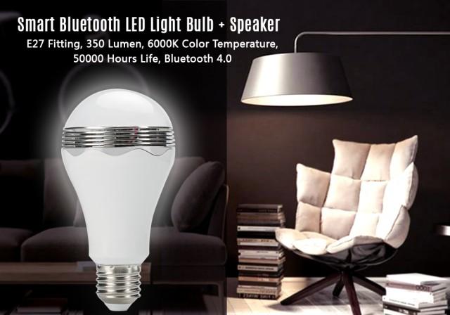 Becul inteligent cu LED, Bluetooth 4.0 şi difuzor