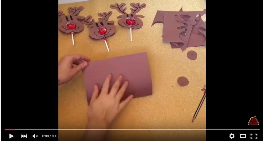 O idee creativă pentru acadele de Crăciun