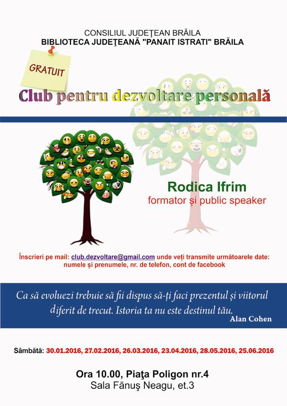 Club dezvoltare personala la Biblioteca Judeteana