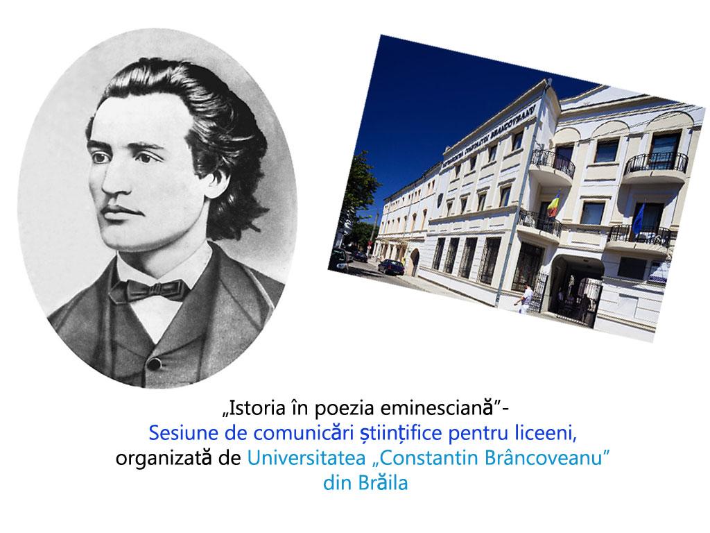 """Sesiune de comunicări științifice pentru liceeni, organizată de Universitatea """"Constantin Brâncoveanu"""" din Brăila"""