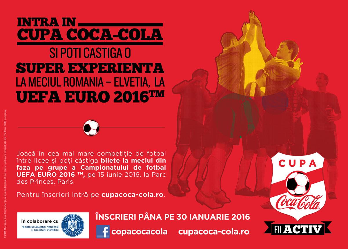 S-a dat startul la înscrieri pentru o nouă ediție a Cupei Coca-Cola