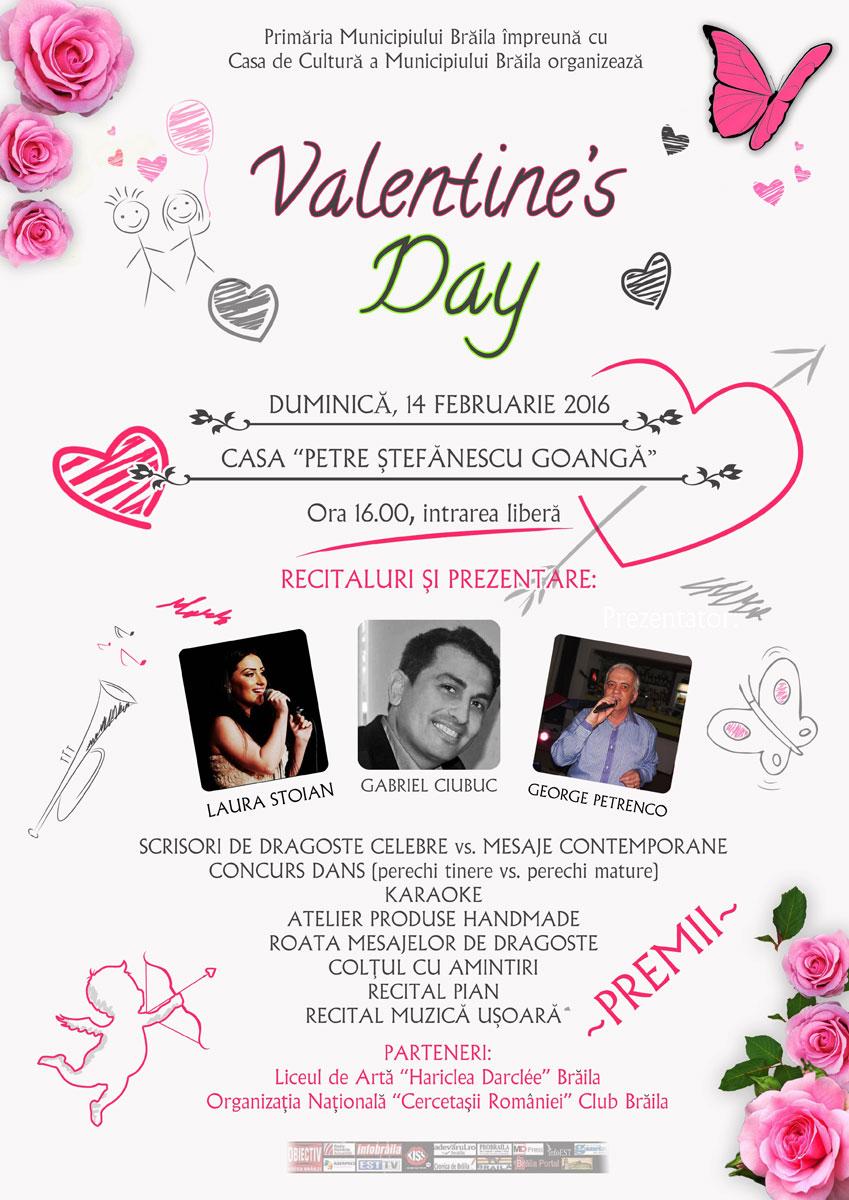 Petrecere dedicată Zilei Îndrăgostiților organizată de Primăria Municipiului Brăila și Casa de Cultură