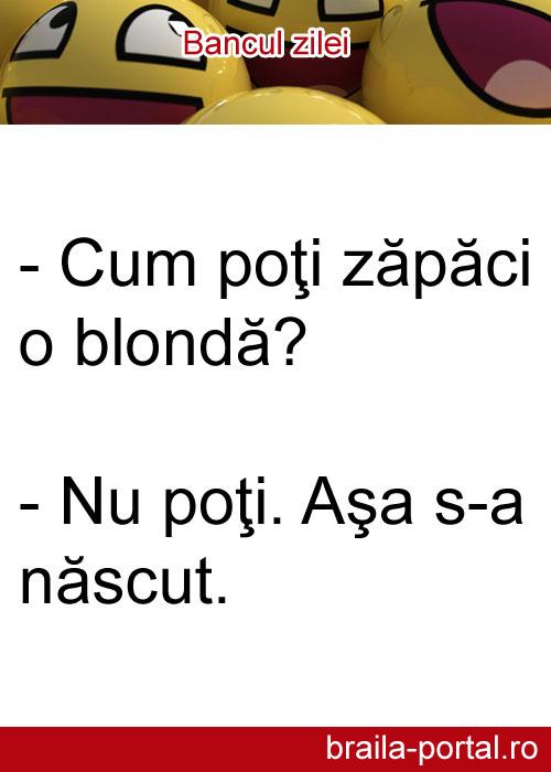 Bancuri Cu Blonde 70