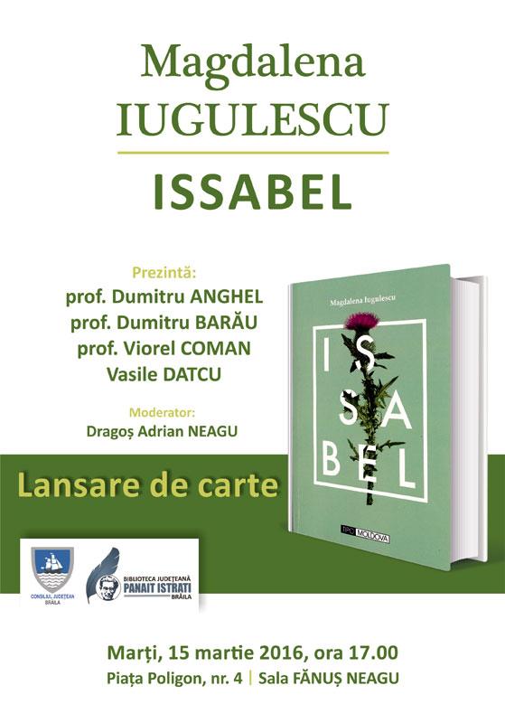 """Lansarea cărții """"Issabel"""