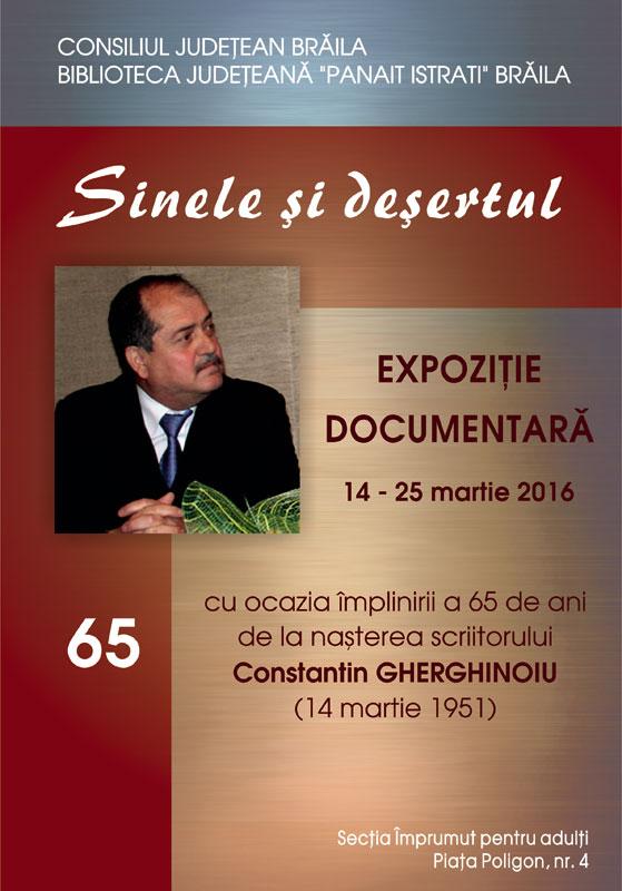 Constantin Gherghinoiu expoziția documentară Sinele și deșertul.