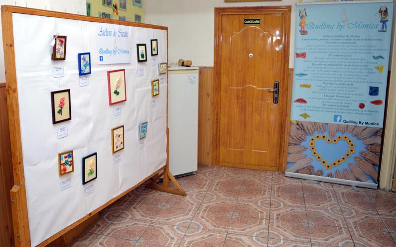 •Expoziție de primăvară marca Quilling by Monica la Școala Gimnazială I. L. Caragiale Brăila