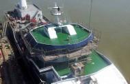 Imagini de la darea la apă a navei SEIHAV realizată în Șantierul Naval Brăila.
