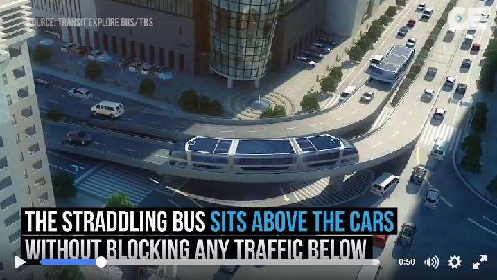 Autobuz peste mașini ce merg în același timp!