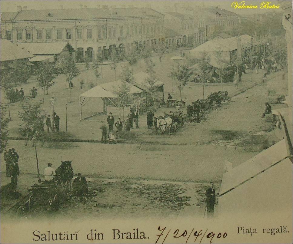 Brăila - Piața Regală în 1900