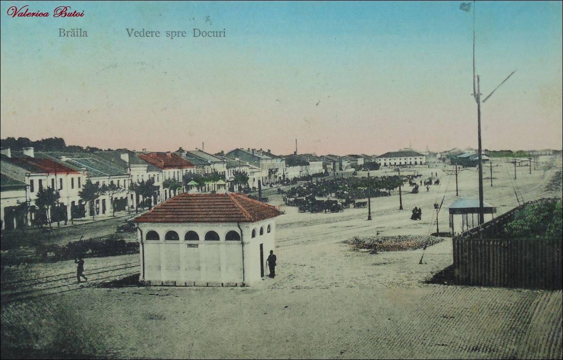Brăila - Vedere spre Docuri, 1909