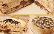 Prăjitura fără coacere din biscuiți și nutella