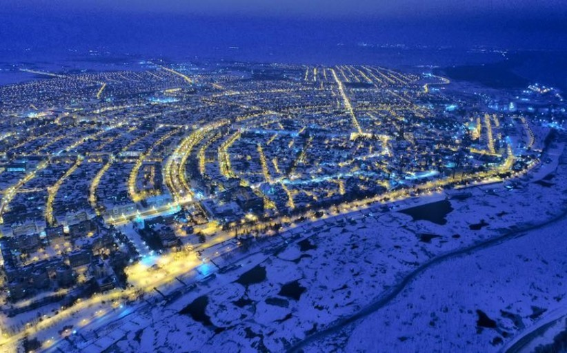 Iarna privită de sus, în Brăila